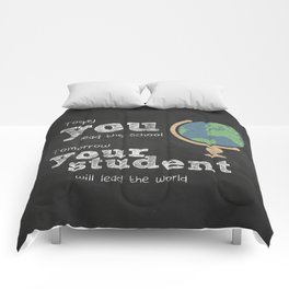 Lead the world | Teacher Appreciation Comforters