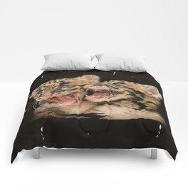 CLOUDED LEOPARD CUBS LOVE Comforters