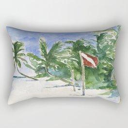 Beach, Tulum, Mexico Rectangular Pillow