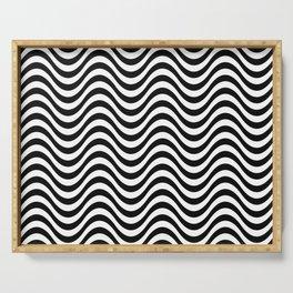 Wave distorsion pattern Serving Tray