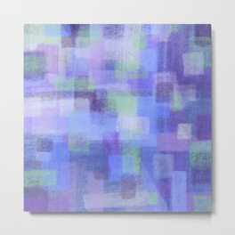 Purple Blocks Metal Print