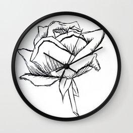 A single rose Wall Clock