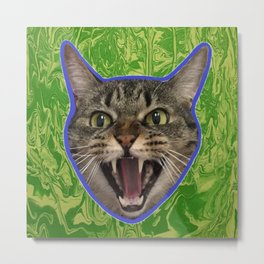 Tiger gone wild Metal Print