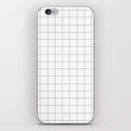 Grid (Silver/White) iPhone Skin