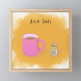 April Fools, trick 3 Framed Mini Art Print