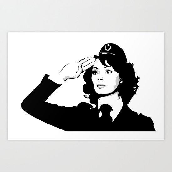 La Poliziotta Art Print