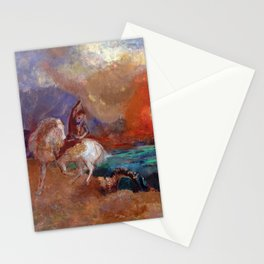 Saint George and the Dragon by Odilon Redon Stationery Cards