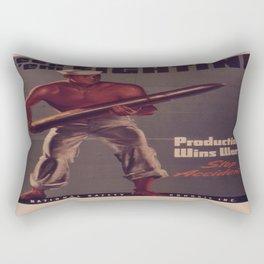 Vintage poster - Keep 'Em Fighting Rectangular Pillow