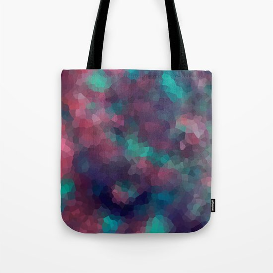 Abstract pattern blue raspberry and turquoise crystals . Tote Bag