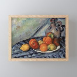 Paul Cézanne - Fruit and a Jug on a Table Framed Mini Art Print