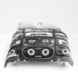 Something Nostalgic - black and white #decor #buyart #society6 Comforters