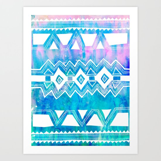 PATTERN {Tribal 002} Art Print