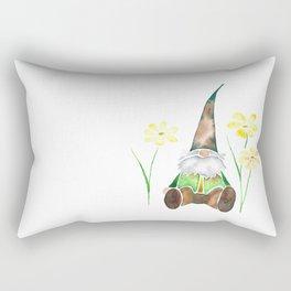 Gnome & Flowers Rectangular Pillow