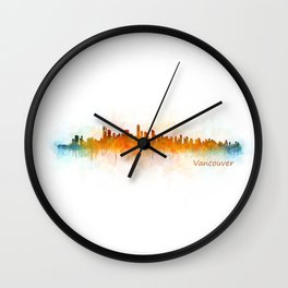 Vancouver Canada City Skyline Hq v03 Wall Clock