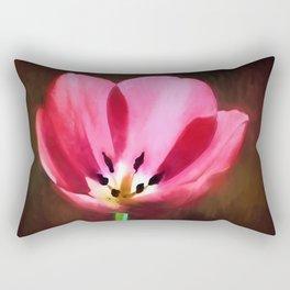 Painted Tulip Rectangular Pillow