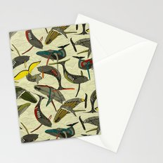 whales and waves bold Stationery Cards