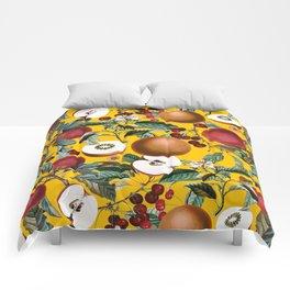 Vintage Fruit Pattern V Comforters