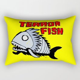 Terror fish Rectangular Pillow