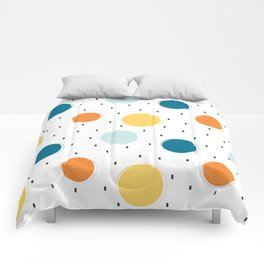cute colorful pattern with grunge circle shapes Comforters