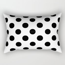 Polka Dots (Black/White) Rectangular Pillow