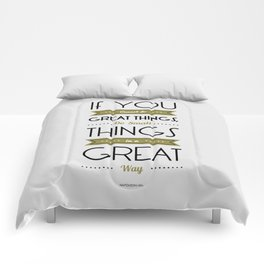 Lab No. 4 - Do Small things in a great way Napoleon Hill Motivational Quotes Poster Comforters