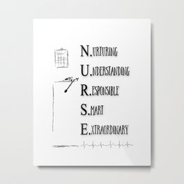 NURSE DEFINED Metal Print
