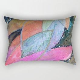 Lotus Dreaming in Pink Rectangular Pillow