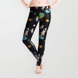 A Walk in Space Leggings