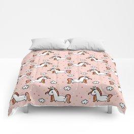 Blush Pink Unicorn Pattern Comforters