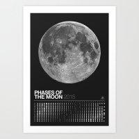 2015 Phases of the Moon Calendar (Full Moon) Art Print
