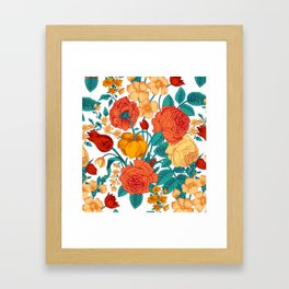 Vintage flower garden Framed Art Print