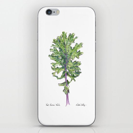 Red Russian Kale iPhone & iPod Skin