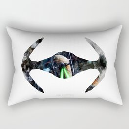 StarWars TIE fighter - Wall Art, Poster, Watercolor, Painting, Drawing, Fine Art, Print Rectangular Pillow