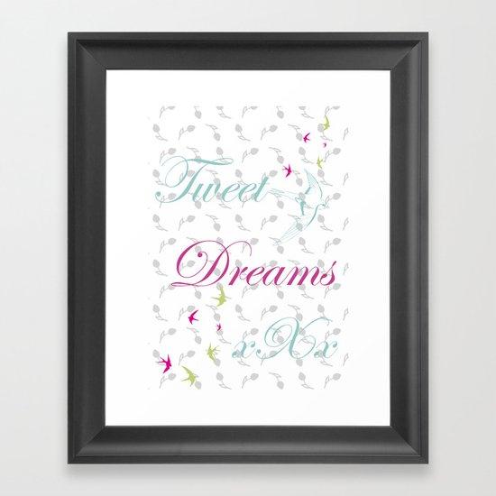 Tweet Dreams Framed Art Print