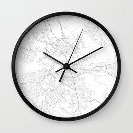 Stockholm, Sweden Minimalist Map Wall Clock