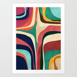 Impossible contour map Art Print