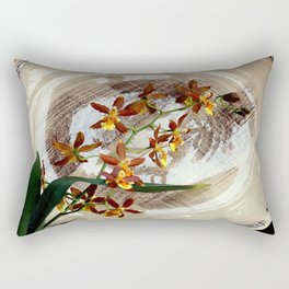 A Brushstroke Of Orchid Genus Rectangular Pillow