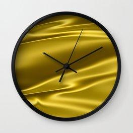 Gold satin texture Wall Clock