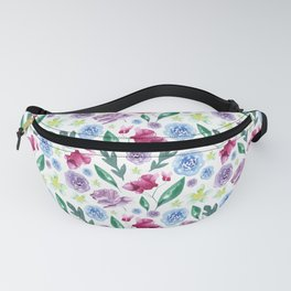Watercolor summer flowers Fanny Pack