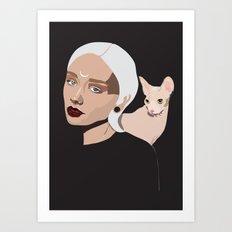 Grey Goddess Art Print
