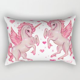 Pink Unicorn Pegasus Rectangular Pillow