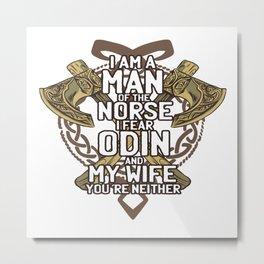 Viking Norse Metal Print