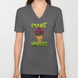 Gardener Plants Whisperer Funny Saying Gift Unisex V-Neck