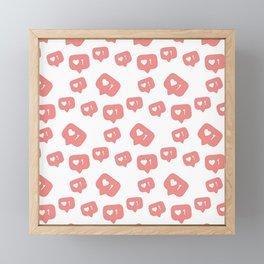 Like time social media pattern Framed Mini Art Print