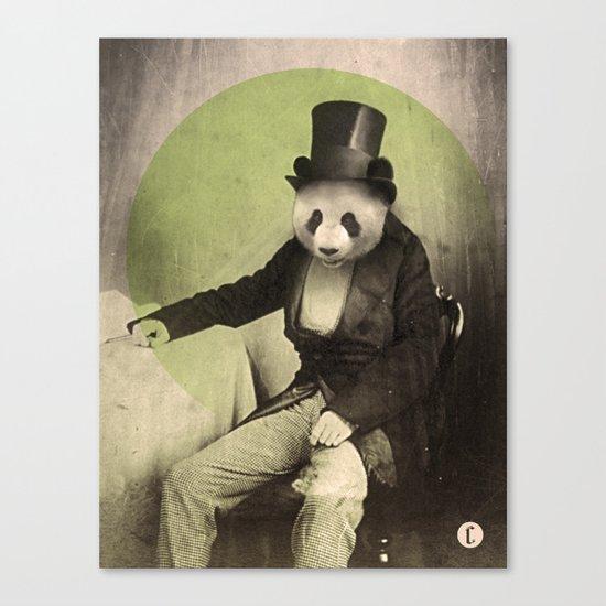 Proper Panda Canvas Print