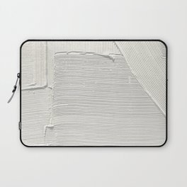 Relief [2]: an abstract, textured piece in white by Alyssa Hamilton Art Laptop Sleeve