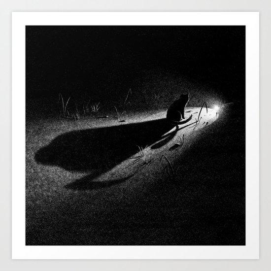 Drawlloween 2013: Black Cat Art Print