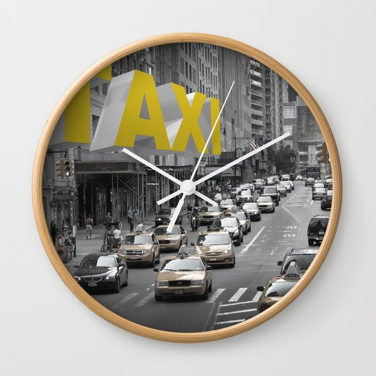 New York Taxi in the air Wall Clock