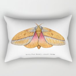 Bisected Honey Locust Moth (Sphingicampa bisecta) Rectangular Pillow
