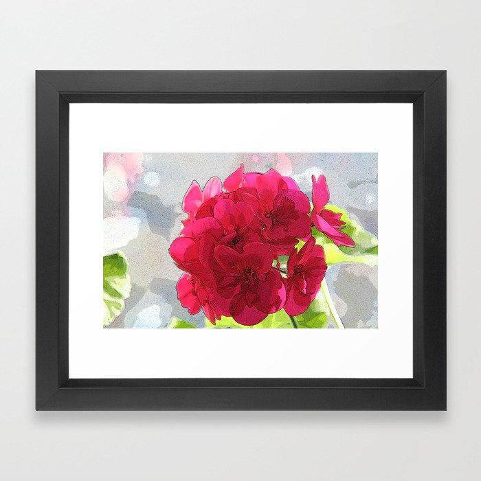 Red Geranium Framed Art Print